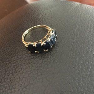 Jewelry - 10k Blue sapphire 5 Anniversary Ring